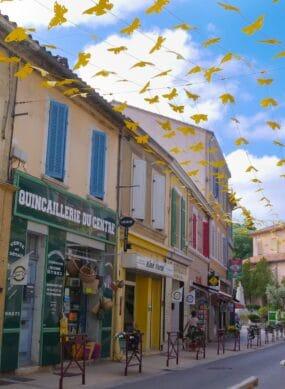 Vue de la Rue de la République et ses commerces
